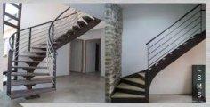 Escalier m tallique m tal cr ation aveyron entreprise de m tallerie fer - Prix escalier sur mesure ...